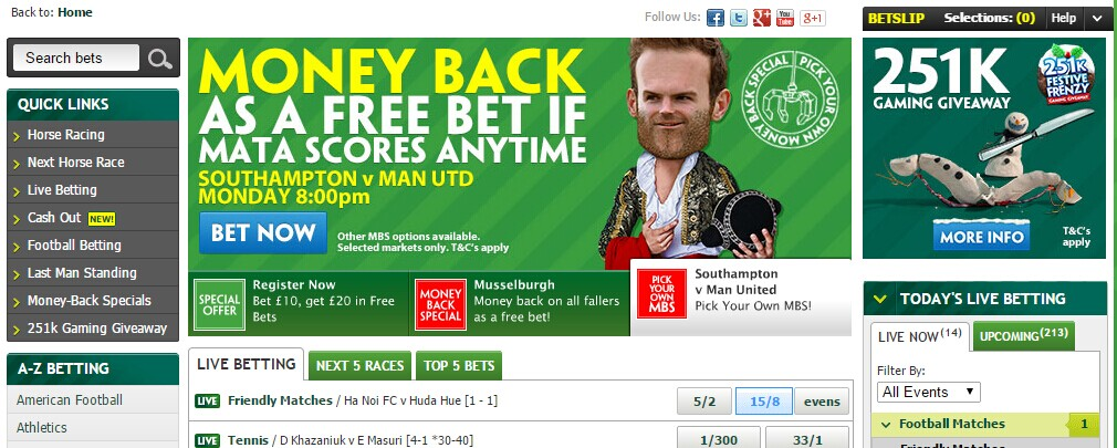 Paddypower sportsbook Screenshot